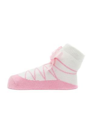 Носочки Пуанты розовые Pretty Fashion Baby. Цвет: розовый