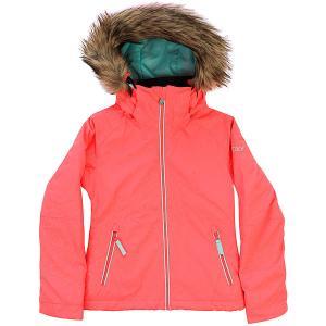 Куртка утепленная детская  Jet Ski So Girl G Snjt Neon Grapefruit_gana Roxy. Цвет: розовый