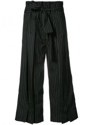 Укороченные широкие брюки Tome. Цвет: чёрный