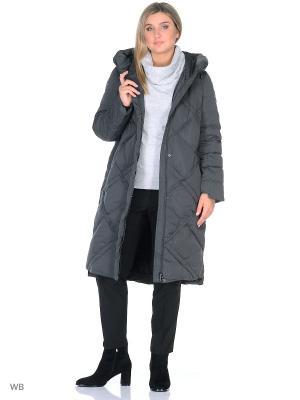 Пальто Romantic Collection.. Цвет: темно-серый
