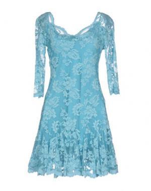 Короткое платье OLVI'S. Цвет: небесно-голубой