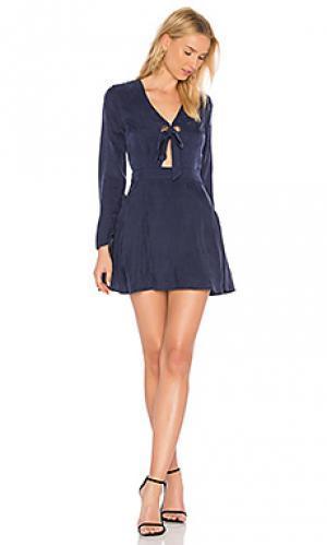 Платье с люверсами rue Line & Dot. Цвет: синий