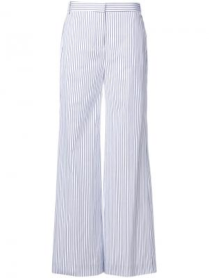 Flared pinstripe trousers Victoria Beckham. Цвет: белый