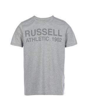 Футболка RUSSELL ATHLETIC. Цвет: светло-серый