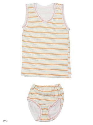 Комплект белья Babycollection. Цвет: оранжевый