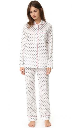Пижама Jamie Three J NYC. Цвет: белый/черный лось/красный
