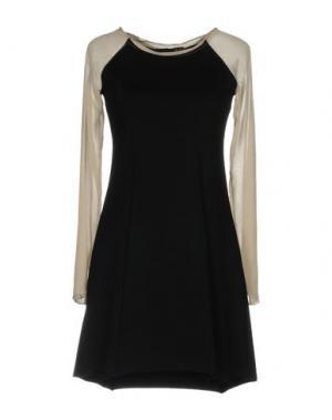Короткое платье DEK'HER. Цвет: черный