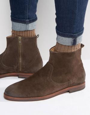 Hudson London Замшевые ботинки на молнии. Цвет: коричневый