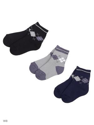 Носки, 3 пары Хох. Цвет: черный, серый, темно-синий