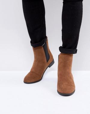 Brave Soul Светло-коричневые ботинки челси. Цвет: рыжий