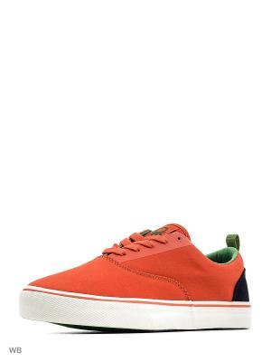 Кеды United Colors of Benetton. Цвет: оранжевый