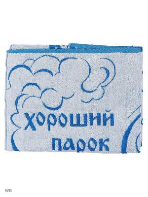 Полотенце махровое пестротканое жаккардовое Парок Авангард. Цвет: синий, белый