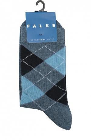 Носки с рисунком Falke. Цвет: голубой
