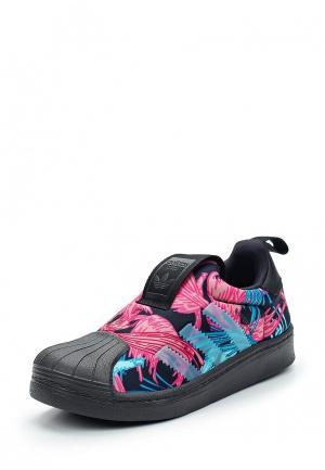 Слипоны adidas Originals. Цвет: черный