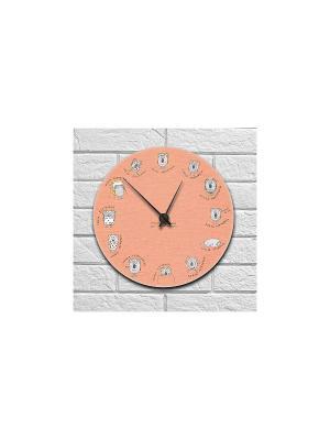 Часы настенные Коала Kawaii Factory. Цвет: персиковый