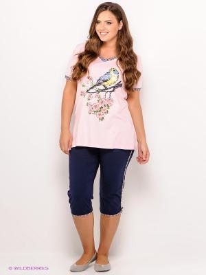 Пижама PELICAN. Цвет: розовый, синий