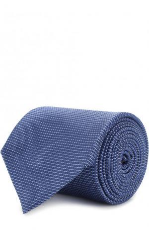 Шелковый галстук Canali. Цвет: синий