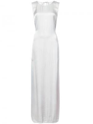 Вечернее платье с завязками на спине Raquel Allegra. Цвет: серый