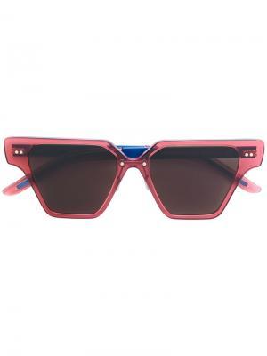 Солнцезащитные очки геометрической формы Cheetah Flamingo Del Toro Shoes. Цвет: розовый и фиолетовый