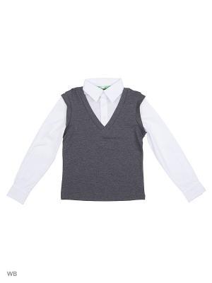Джемпер LIK. Цвет: серый, белый