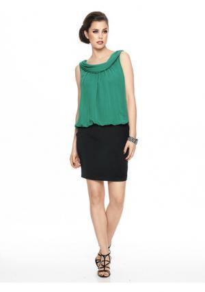 Коктейльное платье Ashley Brooke. Цвет: зеленый