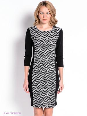 Платье Vila. Цвет: черный, белый