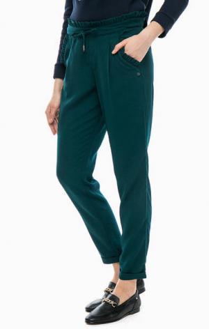 Укороченные брюки джоггеры TOM TAILOR Denim. Цвет: зеленый