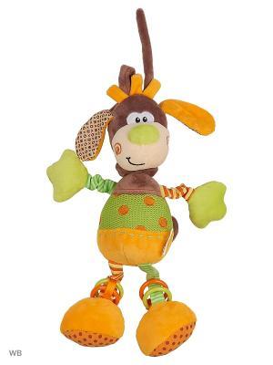 Музыкальная подвеска Пёсик Том Жирафики. Цвет: салатовый, бежевый, оранжевый