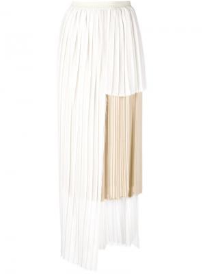Плиссированная юбка Zoe Erika Cavallini. Цвет: телесный
