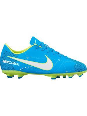 Бутсы JR MERCURIAL VICTORY VI NJR FG Nike. Цвет: синий, белый