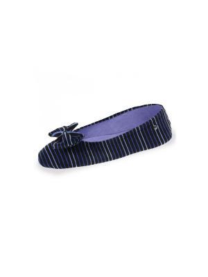Тапочки Isotoner. Цвет: черный, голубой, синий