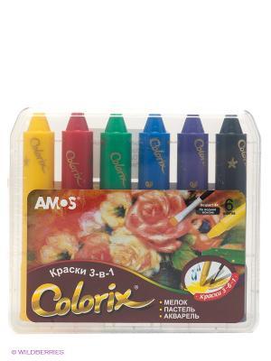 Набор для рисования AMOS. Цвет: желтый, синий, зеленый, красный