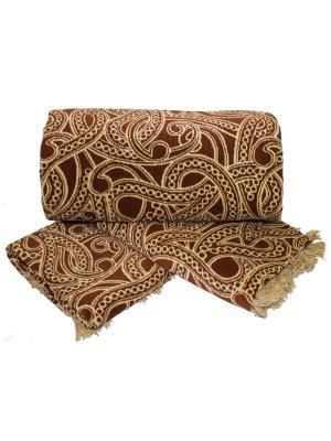 Комплект на мягкую мебель: покрывало 160Х210, накидка кресло 160Х90 - 2шт Dorothy's Home. Цвет: коричневый, бежевый