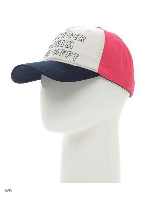 Бейсболка Tommy Hilfiger. Цвет: красный, белый, синий