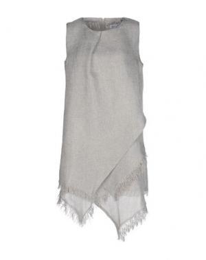 Короткое платье WEILI ZHENG. Цвет: светло-серый