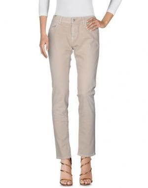 Джинсовые брюки NOTIFY. Цвет: бежевый