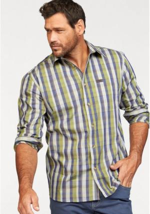 Рубашка MANS WORLD MAN'S. Цвет: зеленый/синий в клетку