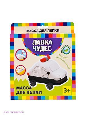 Набор для лепки Полицейская машина Лавка Чудес. Цвет: белый, желтый, черный, красный, синий