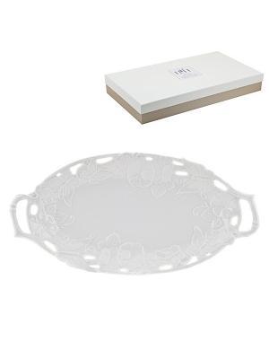 Блюдо овальное Italy Design Elff Ceramics. Цвет: белый