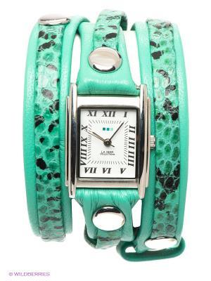 Часы La Mer Collections. Цвет: бирюзовый, серебристый