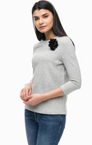Серый свитшот с рукавами 3/4 MORE &. Цвет: серый