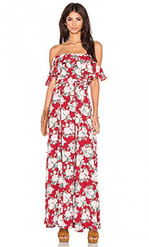Платье petro Privacy Please. Цвет: красный