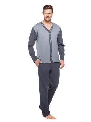 Пижама Kom. Цвет: серый