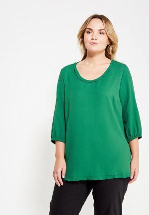 Блуза Ulla Popken. Цвет: зеленый
