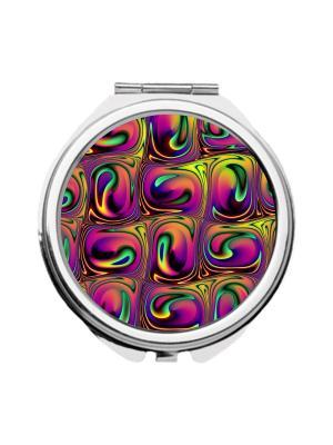 Зеркальце карманное Жидкий металл Chocopony. Цвет: фиолетовый, желтый, малиновый