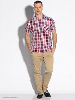 Рубашка F5. Цвет: красный, белый