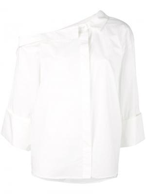 Off shoulder shirt Erika Cavallini. Цвет: белый