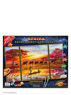 Набор для раскрашивания Триптих Африка - магический континент Schipper. Цвет: темно-синий