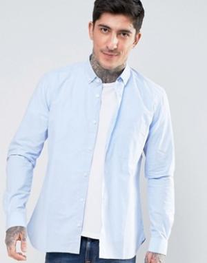 YMC Поплиновая рубашка на пуговицах. Цвет: синий