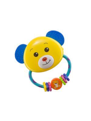 Погремушка-прорезыватель UMKAS Happy Baby. Цвет: черный, синий, бирюзовый, салатовый, фиолетовый, красный, розовый, желтый, белый